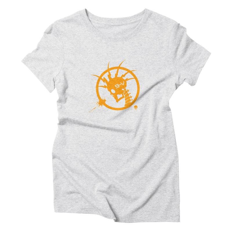 ELECTRO SKULL: CHEDDAR Women's Triblend T-shirt by NIN3VOLT