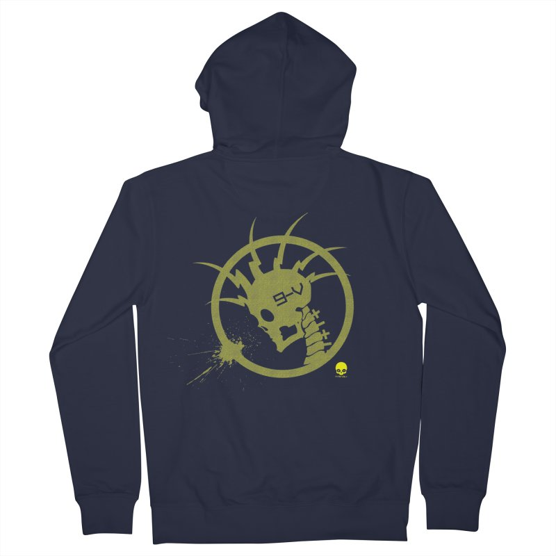 ELECTRO SKULL 2.0 STATIC: CAUTION TAPE  Men's Zip-Up Hoody by NIN3VOLT