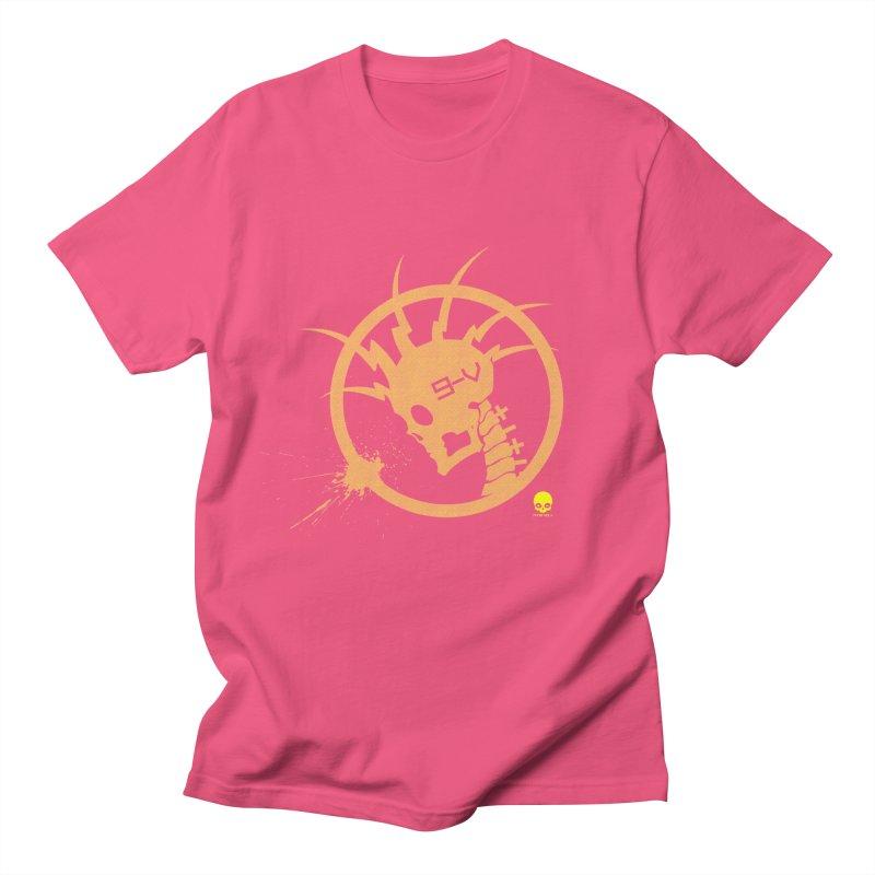 ELECTRO SKULL 2.0 STATIC: CAUTION TAPE  Men's T-Shirt by NIN3VOLT