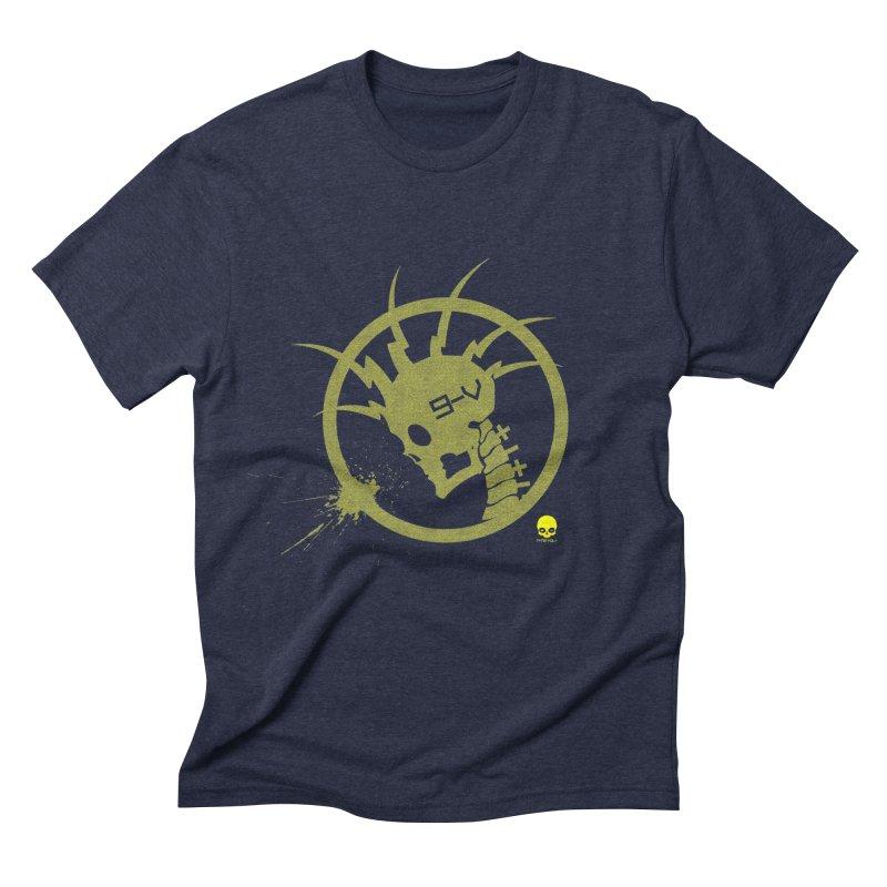 ELECTRO SKULL 2.0 STATIC: CAUTION TAPE  Men's Triblend T-Shirt by NIN3VOLT