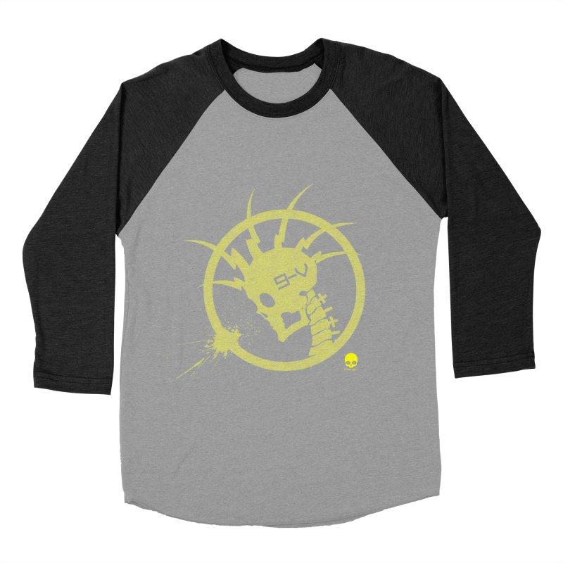ELECTRO SKULL 2.0 STATIC: CAUTION TAPE  Women's Baseball Triblend T-Shirt by NIN3VOLT