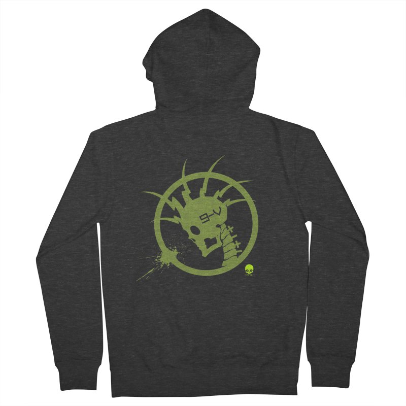 ELECTRO SKULL 2.0 STATIC: KIWI Men's Zip-Up Hoody by NIN3VOLT