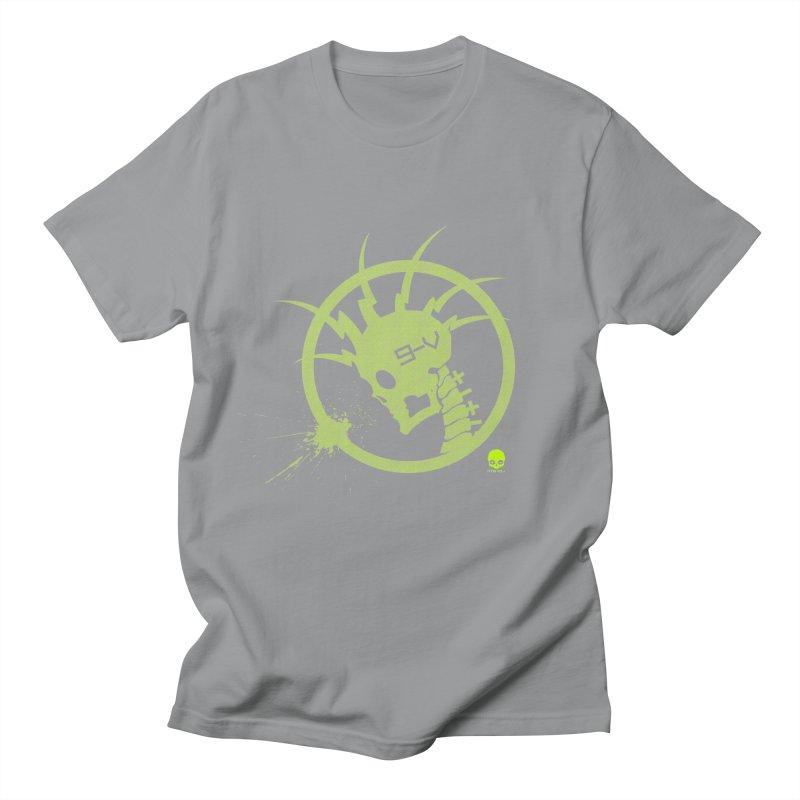 ELECTRO SKULL 2.0 STATIC: KIWI Men's T-shirt by NIN3VOLT