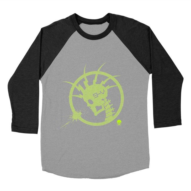 ELECTRO SKULL 2.0 STATIC: KIWI Women's Baseball Triblend T-Shirt by NIN3VOLT