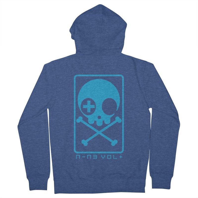 NIN3VOLT CROSSBONES: ELECTRIC BLUE Men's Zip-Up Hoody by NIN3VOLT