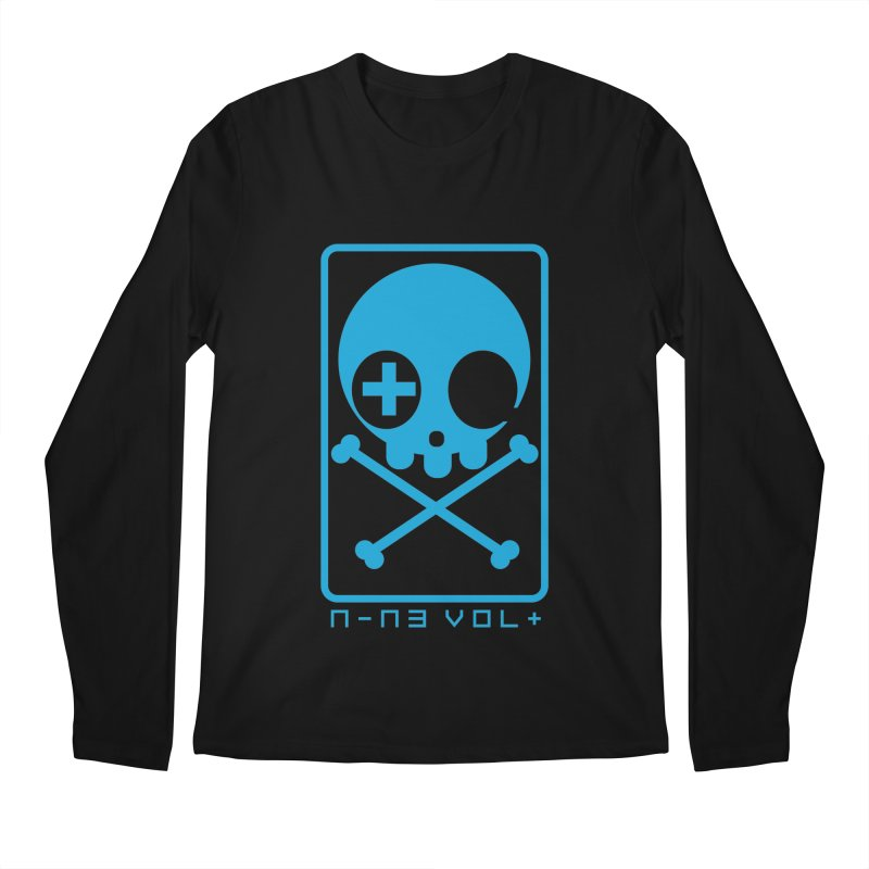 NIN3VOLT CROSSBONES: ELECTRIC BLUE Men's Longsleeve T-Shirt by NIN3VOLT