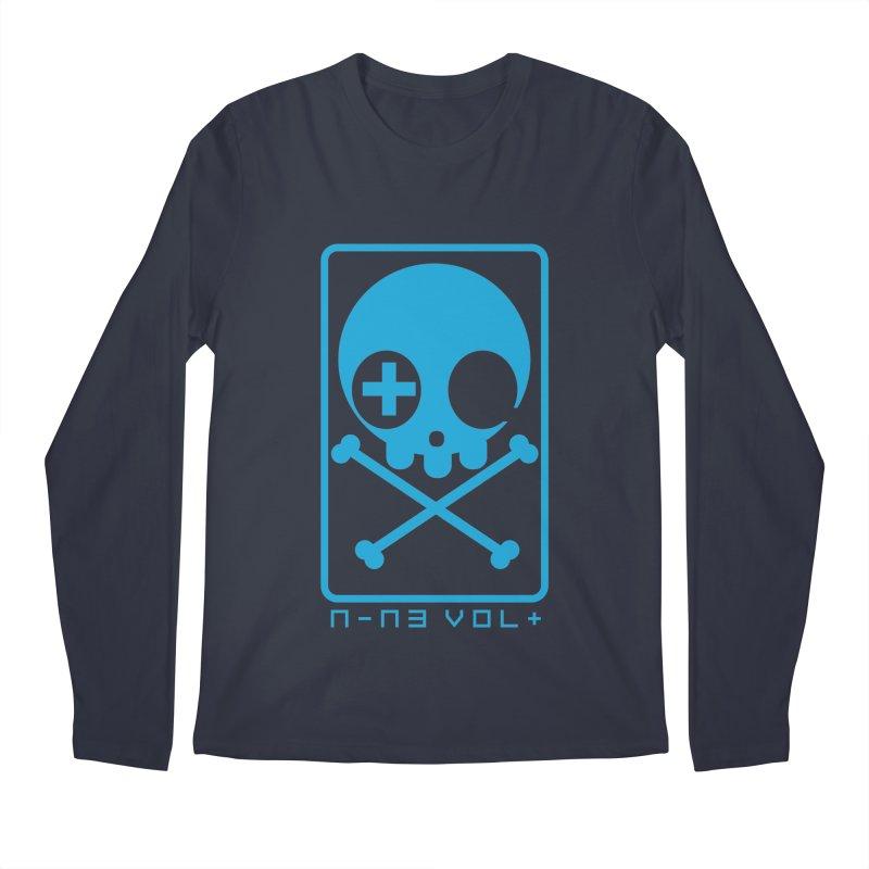 NIN3VOLT CROSSBONES: ELECTRIC BLUE Men's Longsleeve T-Shirt by NIN3VOLT