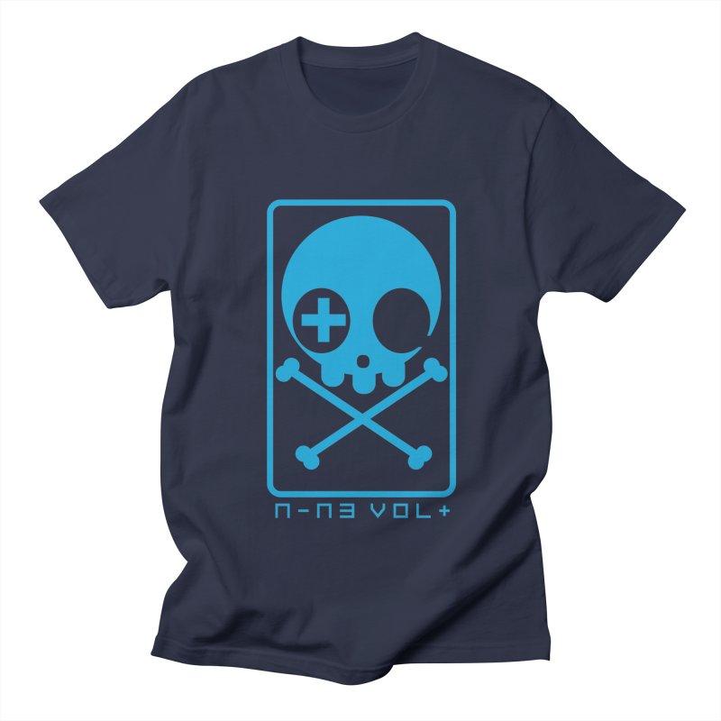 NIN3VOLT CROSSBONES: ELECTRIC BLUE Men's T-Shirt by NIN3VOLT