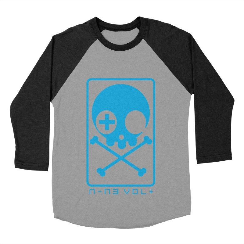 NIN3VOLT CROSSBONES: ELECTRIC BLUE Men's Baseball Triblend T-Shirt by NIN3VOLT