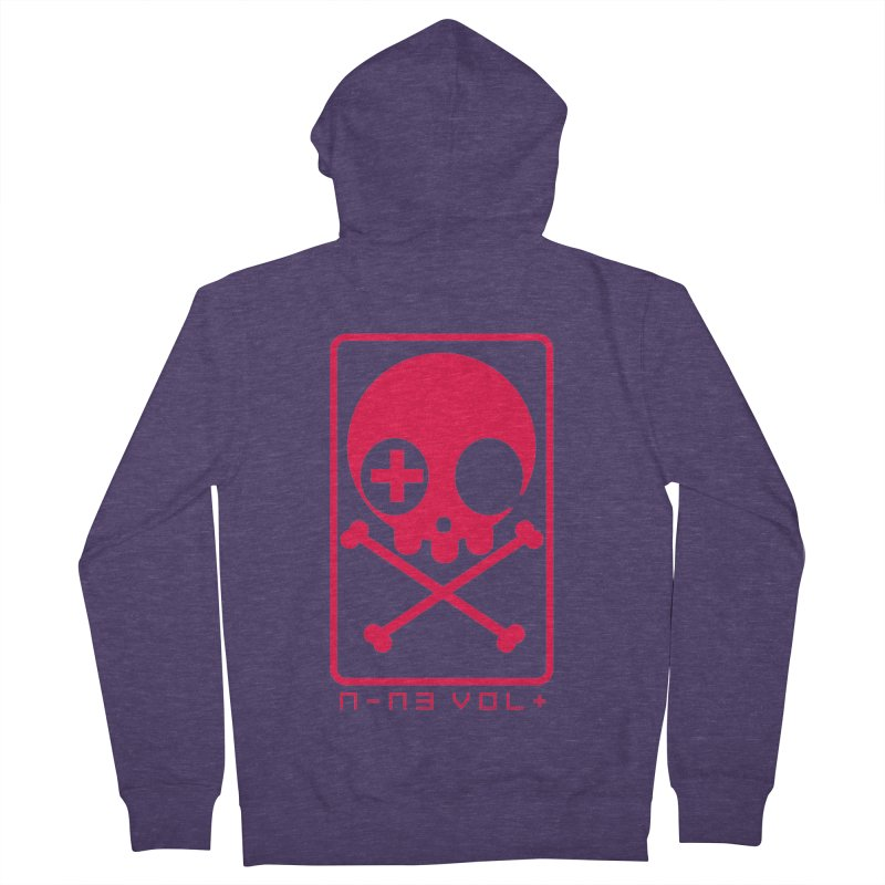 NIN3VOLT CROSSBONES: LICORICE Men's Zip-Up Hoody by NIN3VOLT