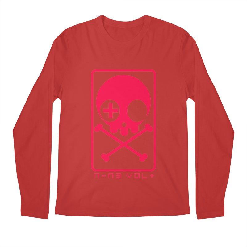 NIN3VOLT CROSSBONES: LICORICE Men's Longsleeve T-Shirt by NIN3VOLT