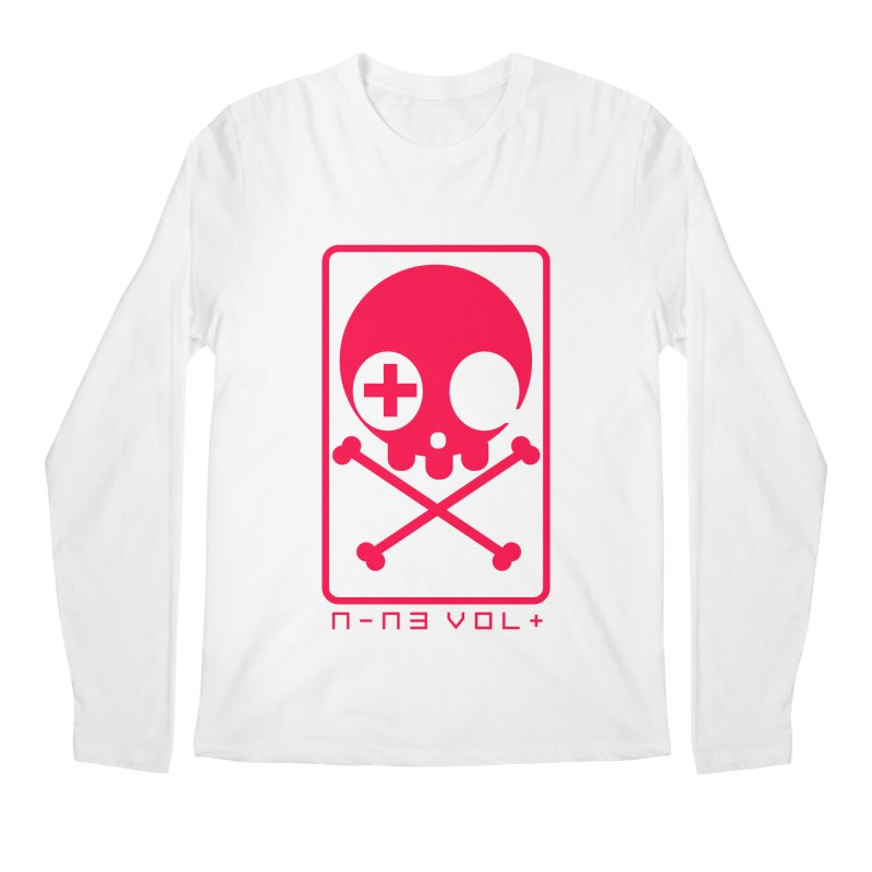 NIN3VOLT CROSSBONES: LICORICE Men's Longsleeve T-Shirt by NIN3VOLT