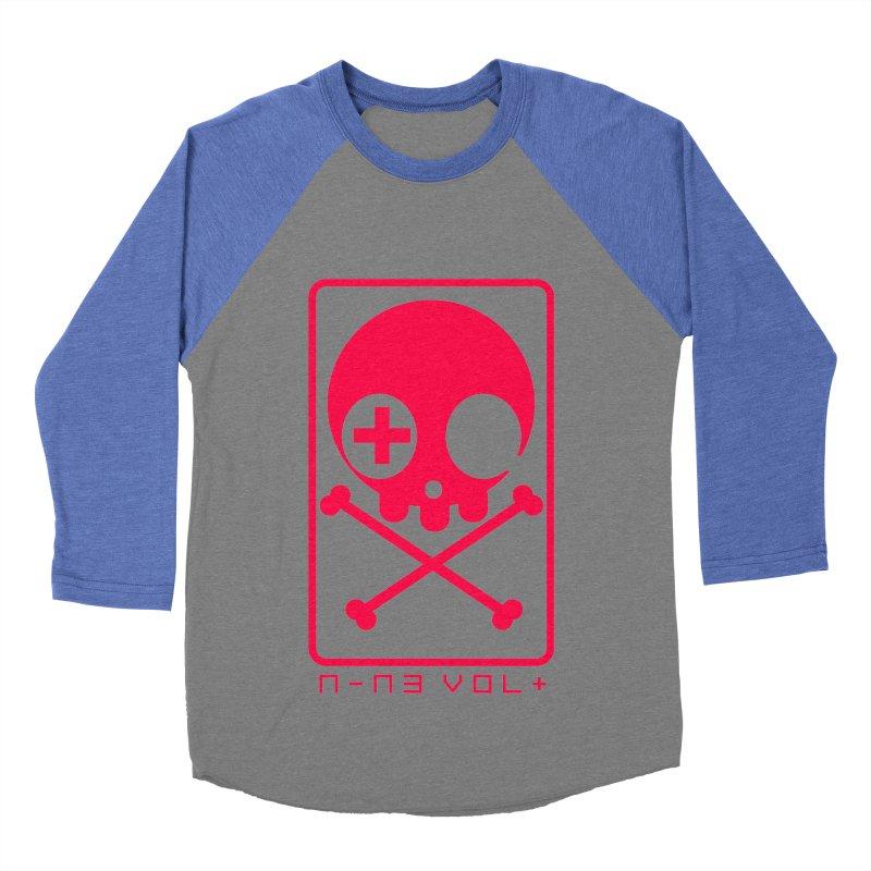 NIN3VOLT CROSSBONES: LICORICE Women's Baseball Triblend T-Shirt by NIN3VOLT