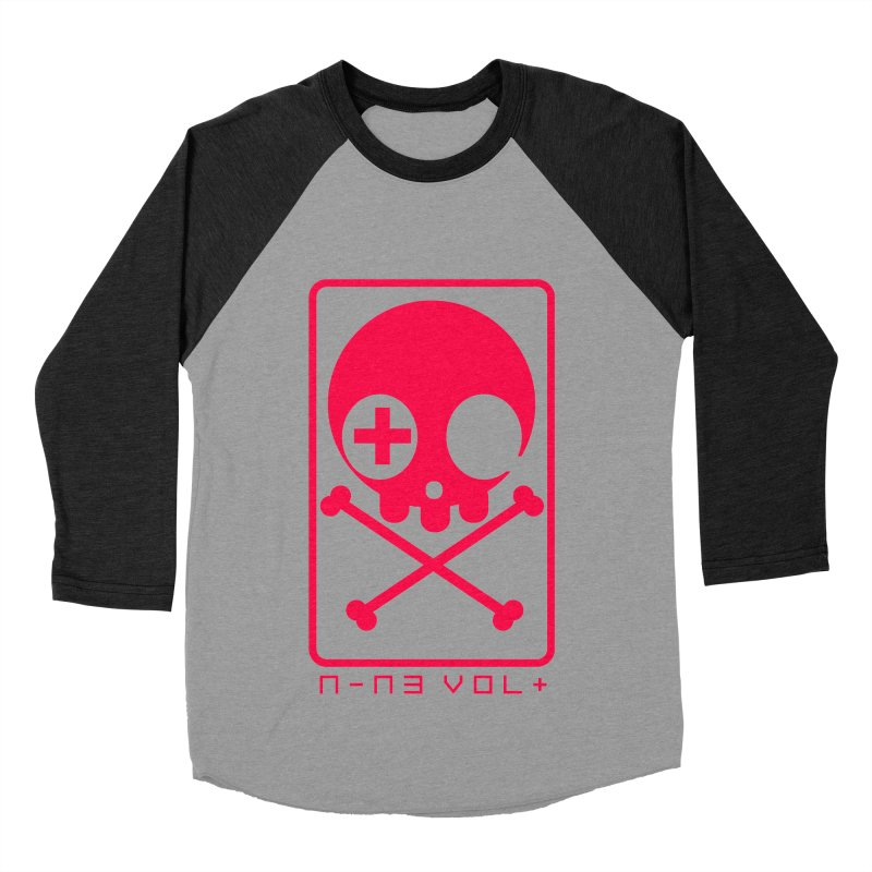NIN3VOLT CROSSBONES: LICORICE Men's Baseball Triblend T-Shirt by NIN3VOLT