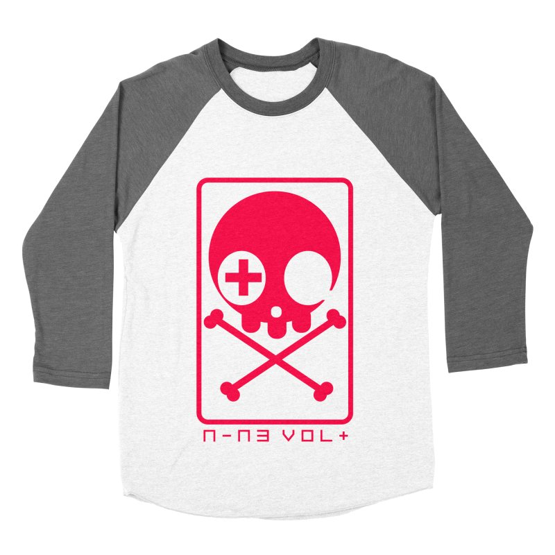 NIN3VOLT CROSSBONES: LICORICE Men's Baseball Triblend T-Shirt by NIN3VOLT