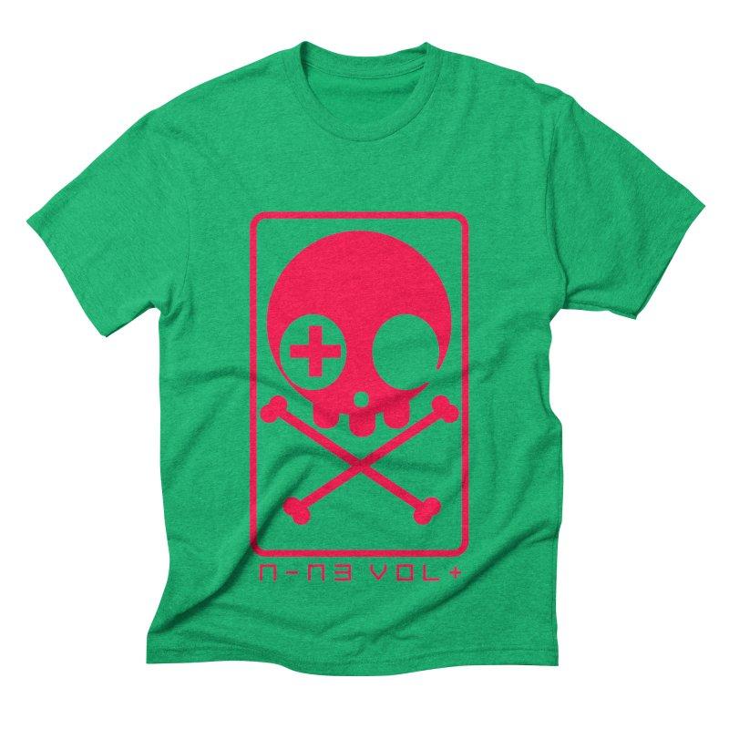 NIN3VOLT CROSSBONES: LICORICE Men's Triblend T-shirt by NIN3VOLT