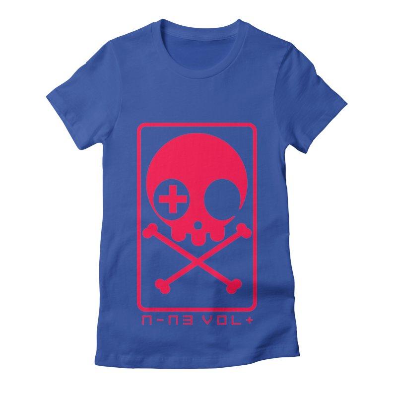 NIN3VOLT CROSSBONES: LICORICE Women's Fitted T-Shirt by NIN3VOLT