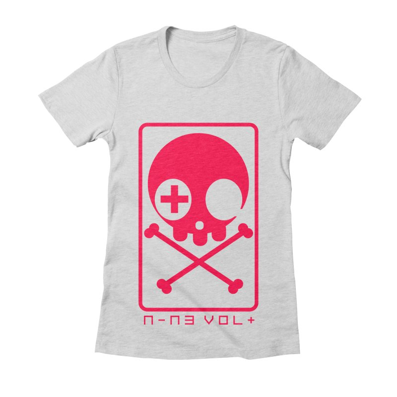 NIN3VOLT CROSSBONES: LICORICE Women's Fitted T-Shirt by NIN3VOLT