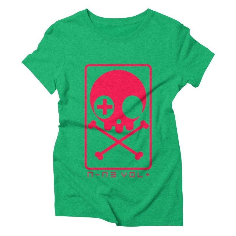 NIN3VOLT CROSSBONES: LICORICE Women's Triblend T-shirt by NIN3VOLT