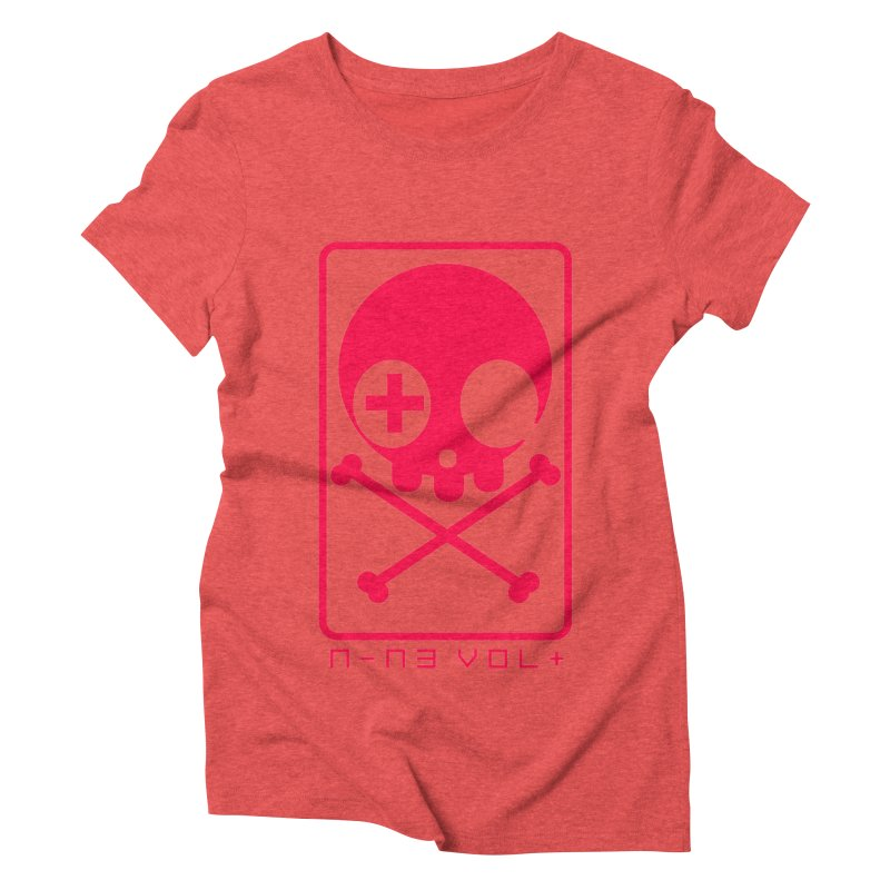 NIN3VOLT CROSSBONES: LICORICE Women's Triblend T-Shirt by NIN3VOLT