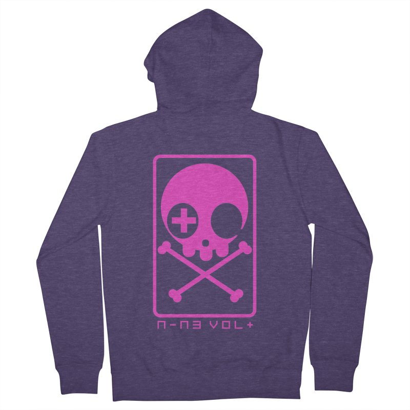 NIN3VOLT CROSSBONES: DRAGONFRUIT Men's Zip-Up Hoody by NIN3VOLT