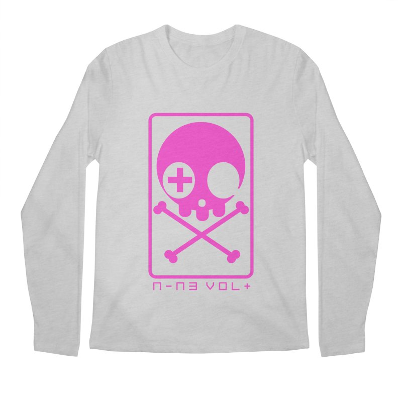 NIN3VOLT CROSSBONES: DRAGONFRUIT Men's Longsleeve T-Shirt by NIN3VOLT