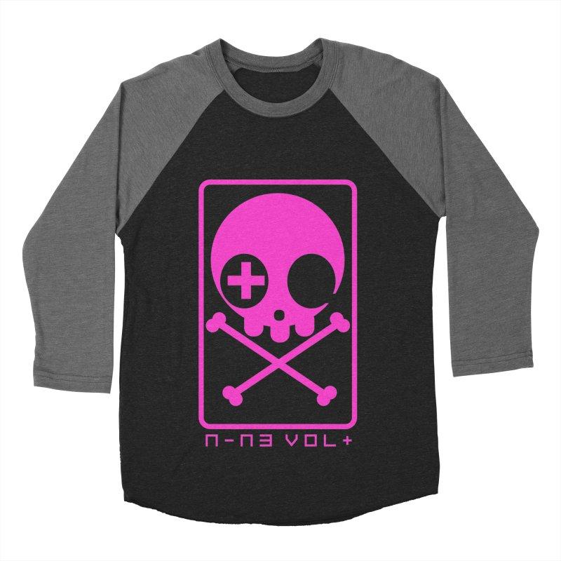 NIN3VOLT CROSSBONES: DRAGONFRUIT Women's Baseball Triblend T-Shirt by NIN3VOLT