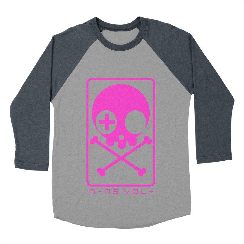 NIN3VOLT CROSSBONES: DRAGONFRUIT Men's Baseball Triblend T-Shirt by NIN3VOLT
