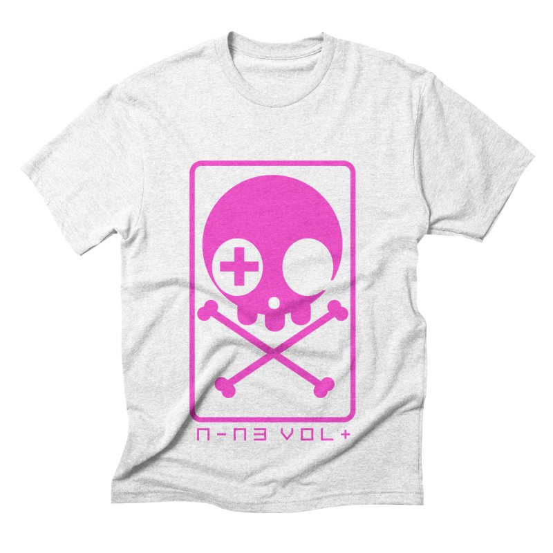 NIN3VOLT CROSSBONES: DRAGONFRUIT Men's Triblend T-shirt by NIN3VOLT