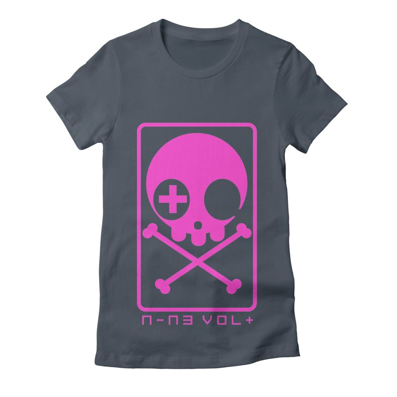 NIN3VOLT CROSSBONES: DRAGONFRUIT Women's Fitted T-Shirt by NIN3VOLT