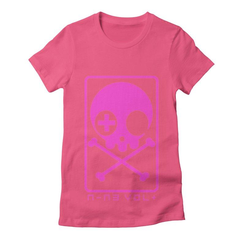 NIN3VOLT CROSSBONES: DRAGONFRUIT Women's Fitted T-Shirt by NIN3VOLT