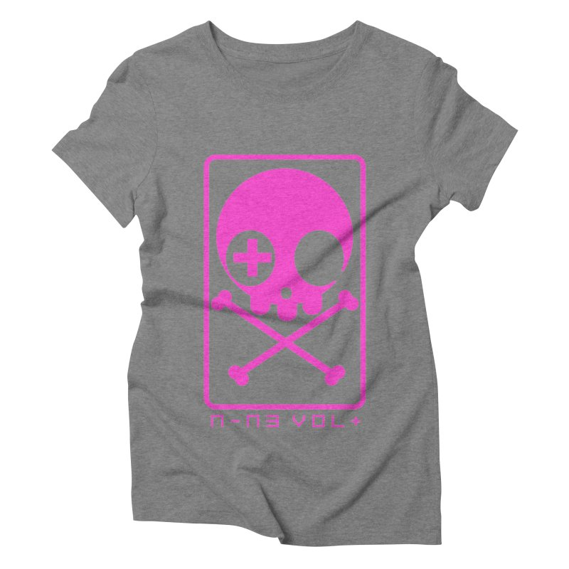 NIN3VOLT CROSSBONES: DRAGONFRUIT Women's Triblend T-shirt by NIN3VOLT