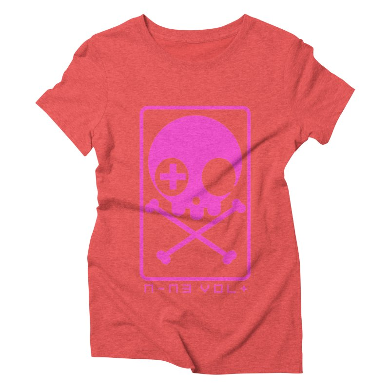NIN3VOLT CROSSBONES: DRAGONFRUIT Women's Triblend T-Shirt by NIN3VOLT