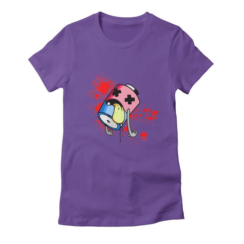 NIN3VOLT: DEAD BATTERY  Women's Fitted T-Shirt by NIN3VOLT