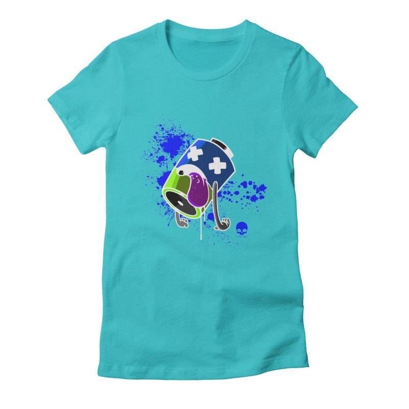 NIN3VOLT: DEAD BATTERY 2.0  Women's Fitted T-Shirt by NIN3VOLT