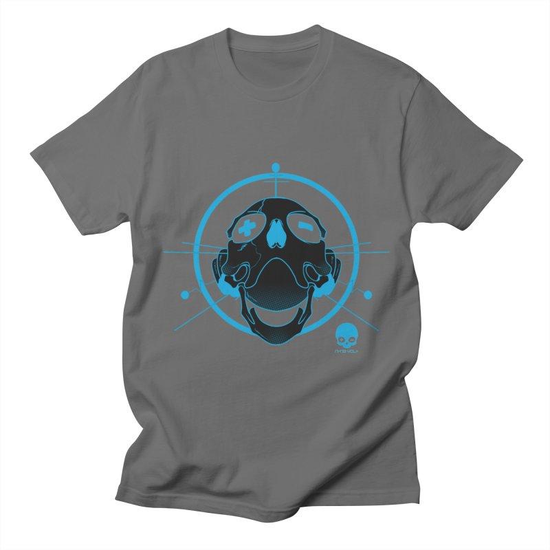 ANTENNA SKULL: ELECTRIC BLUE Men's T-shirt by NIN3VOLT