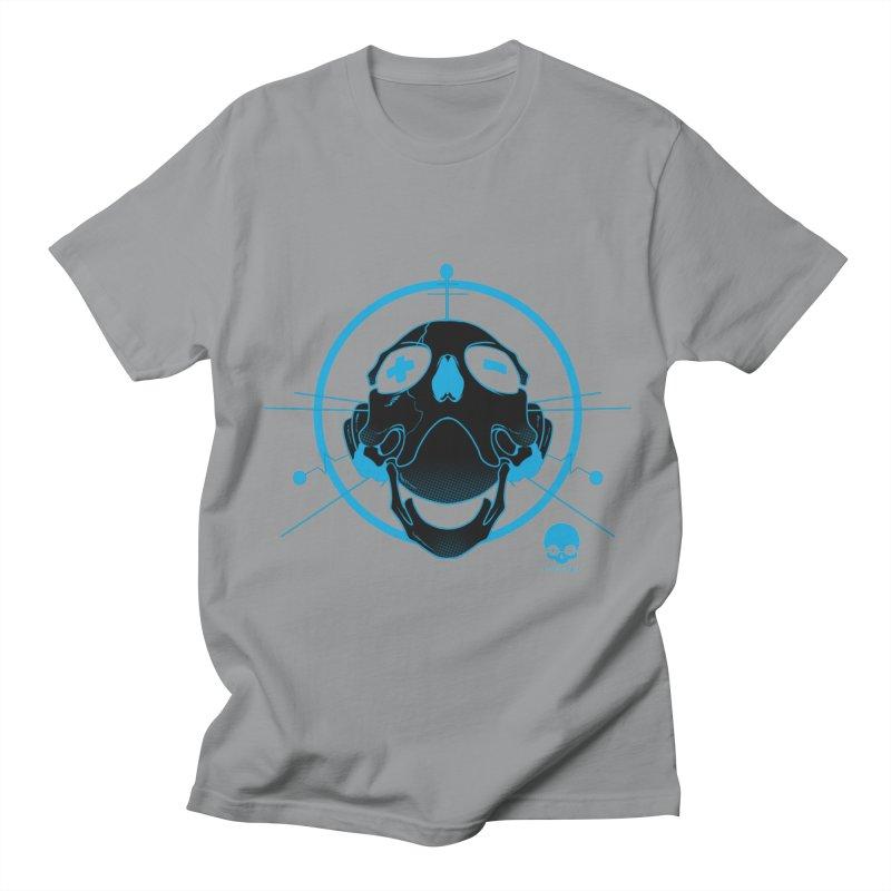 ANTENNA SKULL: ELECTRIC BLUE Women's Unisex T-Shirt by NIN3VOLT