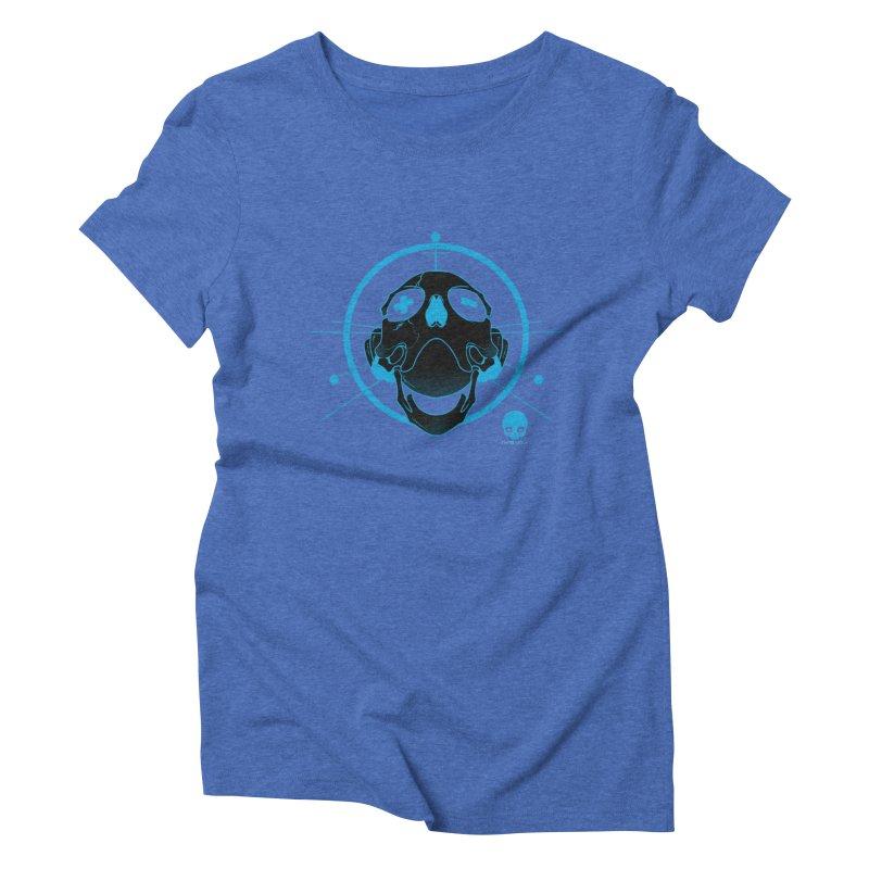 ANTENNA SKULL: ELECTRIC BLUE Women's Triblend T-shirt by NIN3VOLT