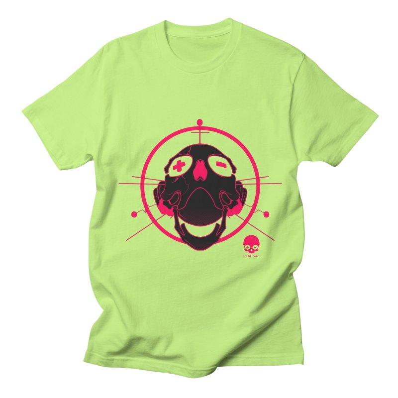 ANTENNA SKULL: WILD RAZZBERRY Men's T-Shirt by NIN3VOLT