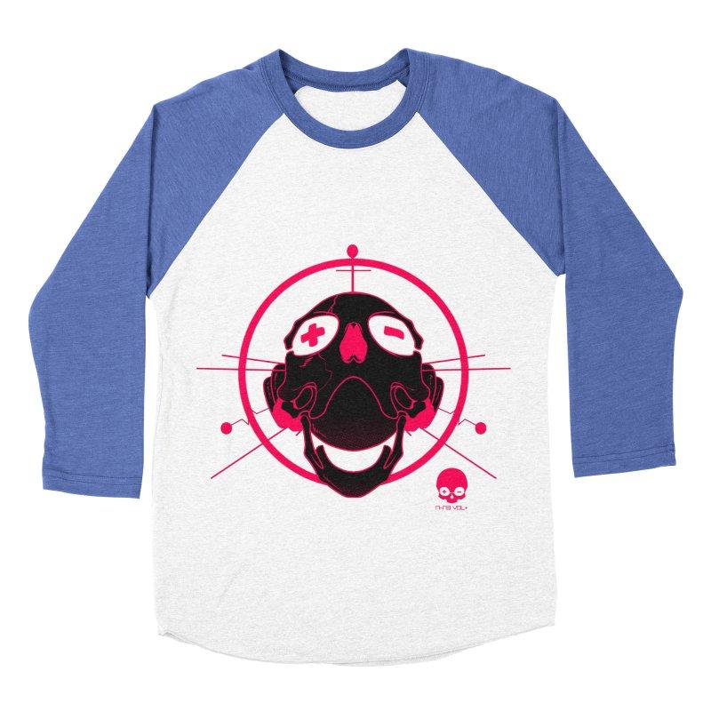 ANTENNA SKULL: WILD RAZZBERRY Women's Baseball Triblend T-Shirt by NIN3VOLT