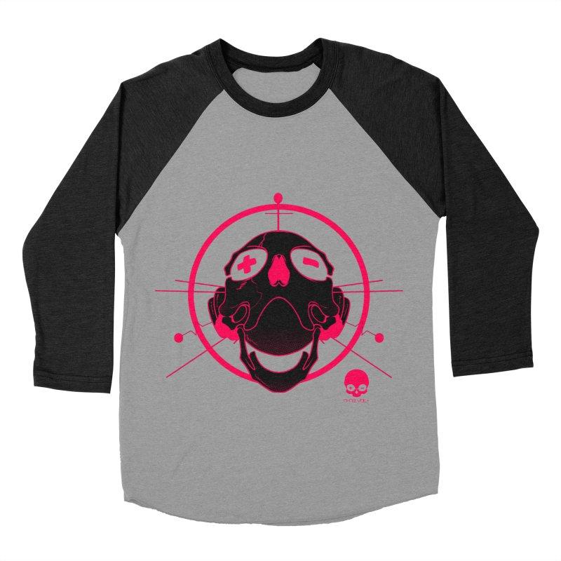 ANTENNA SKULL: WILD RAZZBERRY Men's Baseball Triblend T-Shirt by NIN3VOLT