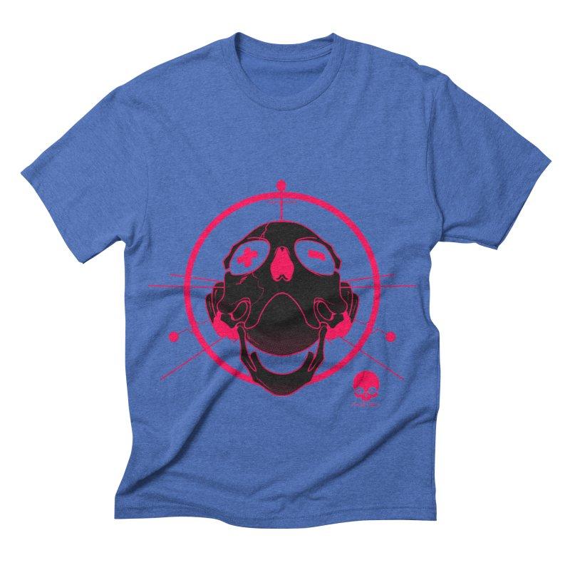 ANTENNA SKULL: WILD RAZZBERRY Men's Triblend T-shirt by NIN3VOLT