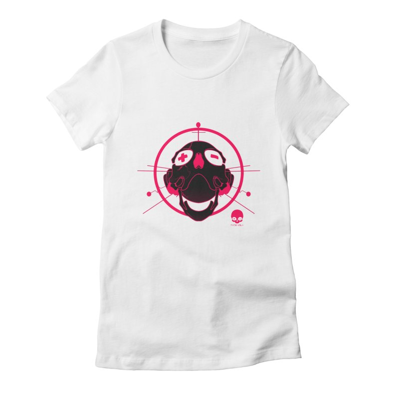 ANTENNA SKULL: WILD RAZZBERRY Women's Fitted T-Shirt by NIN3VOLT