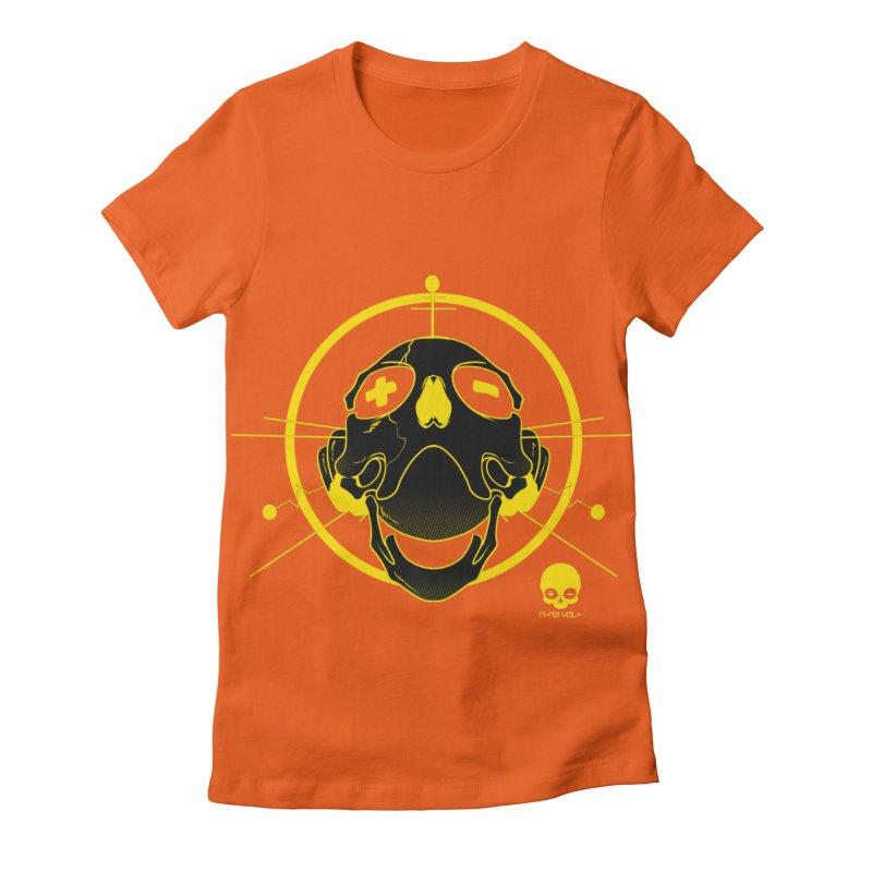 ANTENNA SKULL: LEMON Women's Fitted T-Shirt by NIN3VOLT