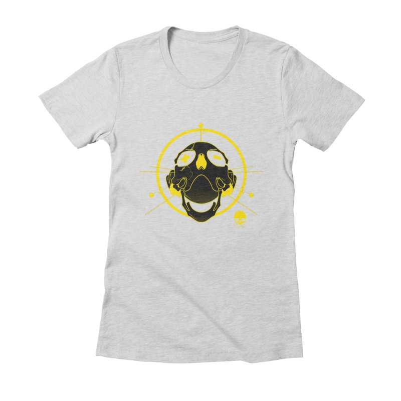 ANTENNA SKULL: LEMON Women's Fitted T-Shirt by NIN3VOLT