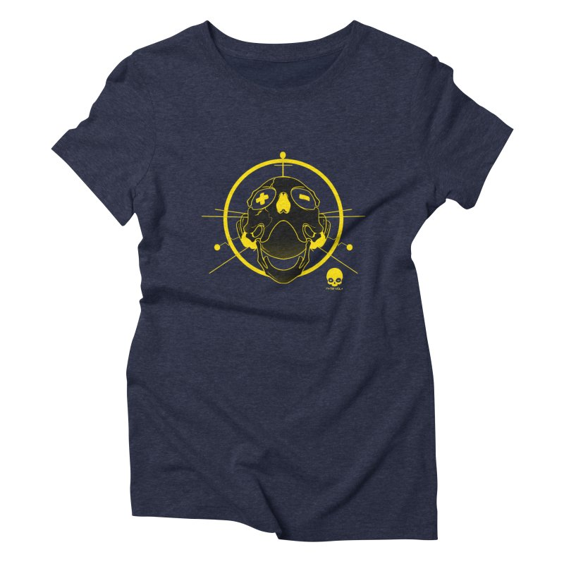 ANTENNA SKULL: LEMON Women's Triblend T-Shirt by NIN3VOLT