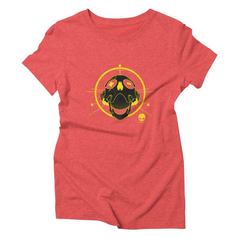 ANTENNA SKULL: LEMON Women's Triblend T-shirt by NIN3VOLT