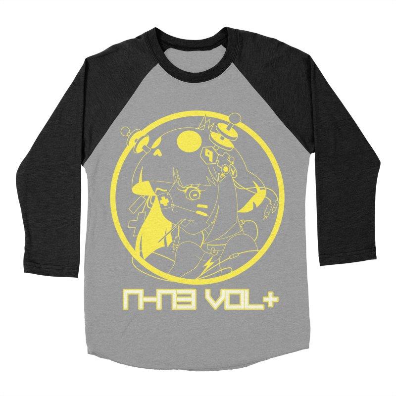NIN3VOLT: OTAKU TIME!! PINEAPPLE Men's Baseball Triblend T-Shirt by NIN3VOLT