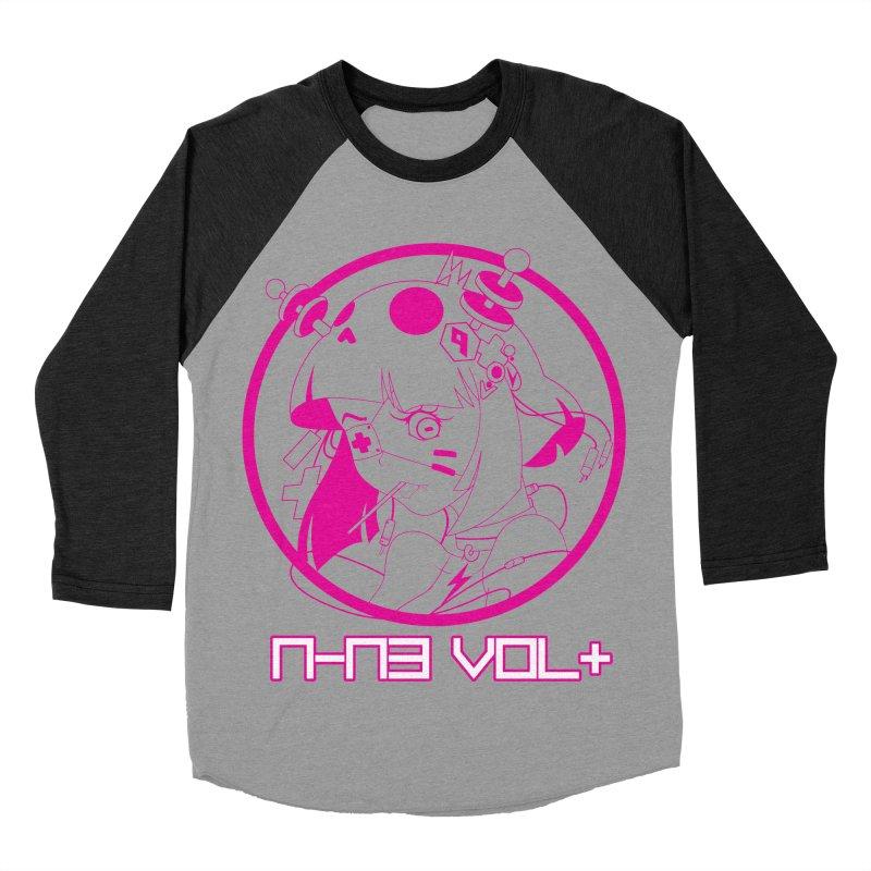 NIN3VOLT: OTAKU TIME!! PLUM Men's Baseball Triblend T-Shirt by NIN3VOLT