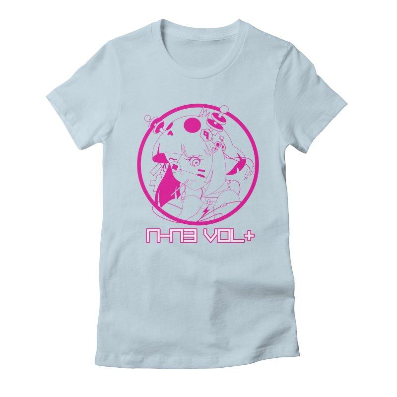 NIN3VOLT: OTAKU TIME!! PLUM Women's Fitted T-Shirt by NIN3VOLT